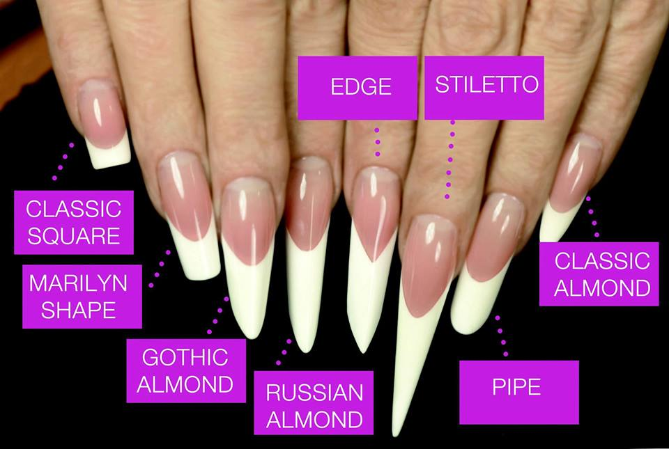 Formes sp ciales c curve pipe square amande russe - Forme d ongle ...